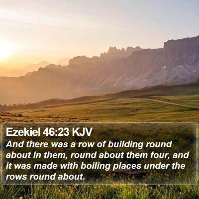 Ezekiel 46:23 KJV Bible Verse Image