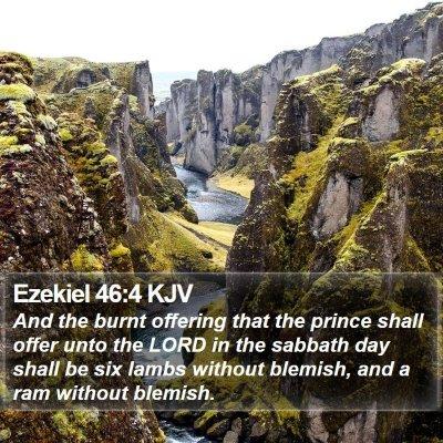 Ezekiel 46:4 KJV Bible Verse Image