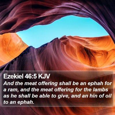 Ezekiel 46:5 KJV Bible Verse Image