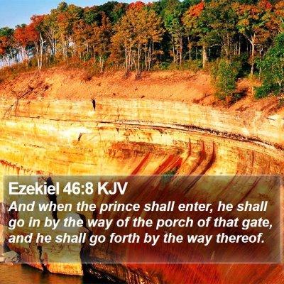 Ezekiel 46:8 KJV Bible Verse Image