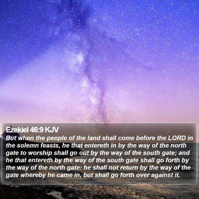 Ezekiel 46:9 KJV Bible Verse Image
