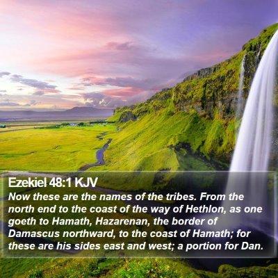 Ezekiel 48:1 KJV Bible Verse Image