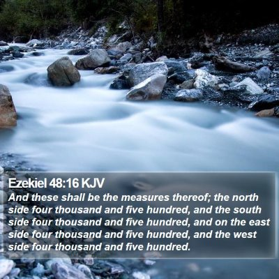 Ezekiel 48:16 KJV Bible Verse Image