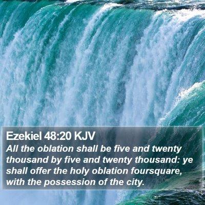 Ezekiel 48:20 KJV Bible Verse Image