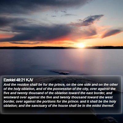 Ezekiel 48:21 KJV Bible Verse Image