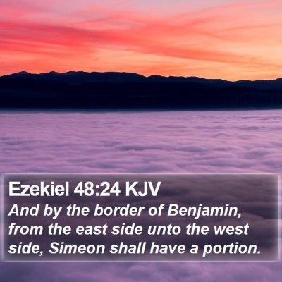 Ezekiel 48:24 KJV Bible Verse Image