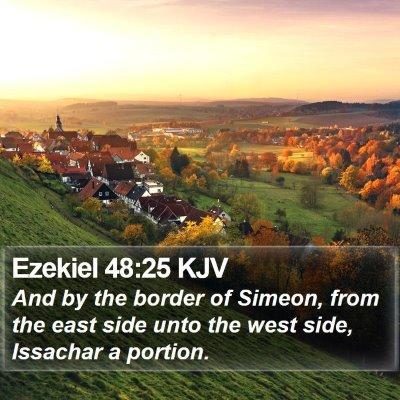 Ezekiel 48:25 KJV Bible Verse Image