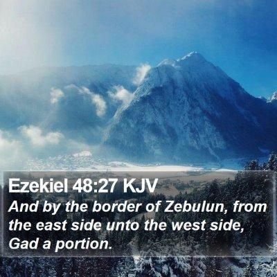 Ezekiel 48:27 KJV Bible Verse Image
