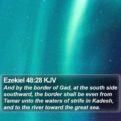 Ezekiel 48:28 KJV Bible Verse Image