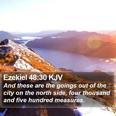 Ezekiel 48:30 KJV Bible Verse Image