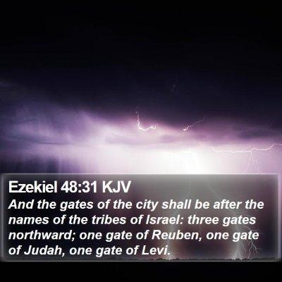Ezekiel 48:31 KJV Bible Verse Image