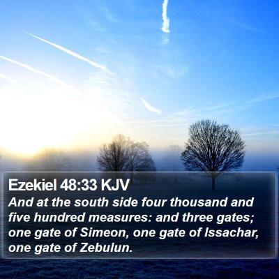 Ezekiel 48:33 KJV Bible Verse Image