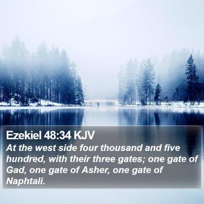 Ezekiel 48:34 KJV Bible Verse Image