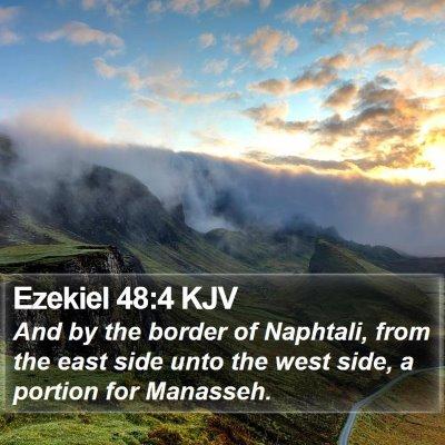 Ezekiel 48:4 KJV Bible Verse Image