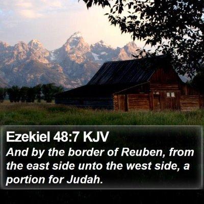 Ezekiel 48:7 KJV Bible Verse Image