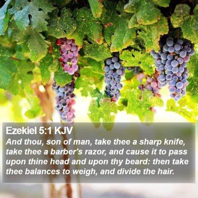 Ezekiel 5:1 KJV Bible Verse Image