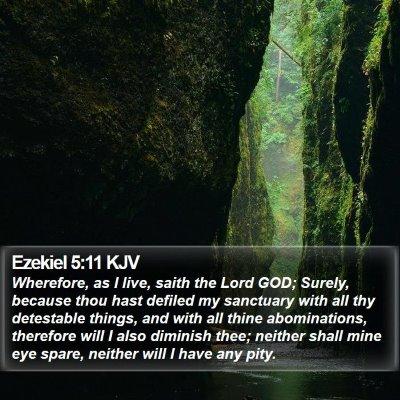 Ezekiel 5:11 KJV Bible Verse Image