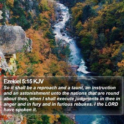 Ezekiel 5:15 KJV Bible Verse Image