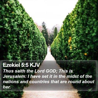 Ezekiel 5:5 KJV Bible Verse Image