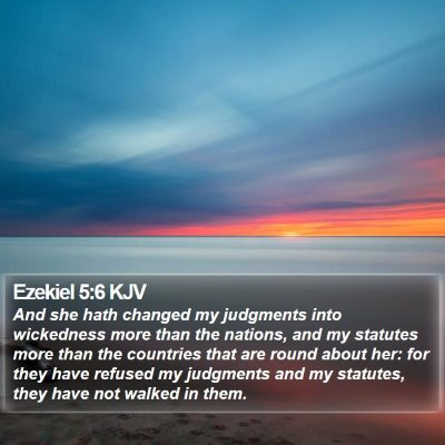 Ezekiel 5:6 KJV Bible Verse Image