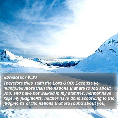 Ezekiel 5:7 KJV Bible Verse Image
