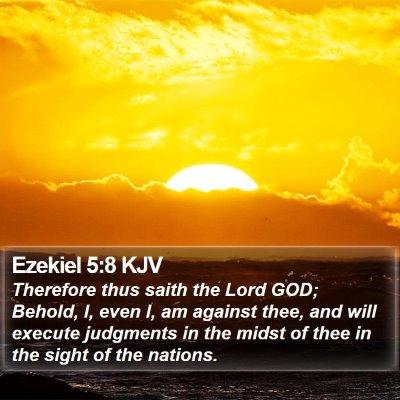 Ezekiel 5:8 KJV Bible Verse Image