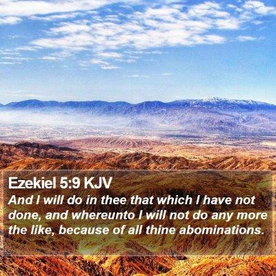 Ezekiel 5:9 KJV Bible Verse Image