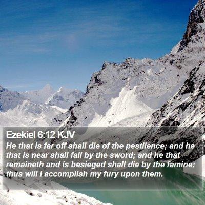 Ezekiel 6:12 KJV Bible Verse Image