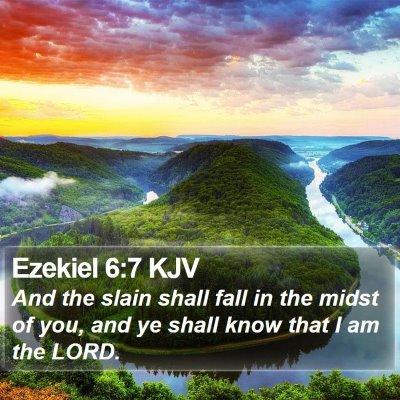 Ezekiel 6:7 KJV Bible Verse Image