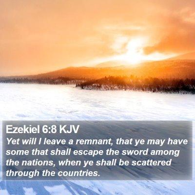 Ezekiel 6:8 KJV Bible Verse Image