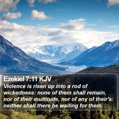 Ezekiel 7:11 KJV Bible Verse Image