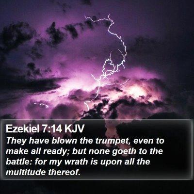 Ezekiel 7:14 KJV Bible Verse Image