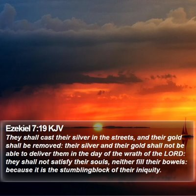 Ezekiel 7:19 KJV Bible Verse Image
