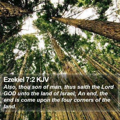 Ezekiel 7:2 KJV Bible Verse Image