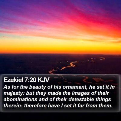Ezekiel 7:20 KJV Bible Verse Image
