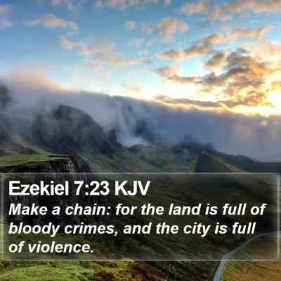 Ezekiel 7:23 KJV Bible Verse Image