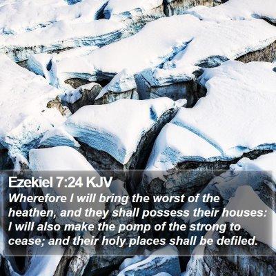 Ezekiel 7:24 KJV Bible Verse Image