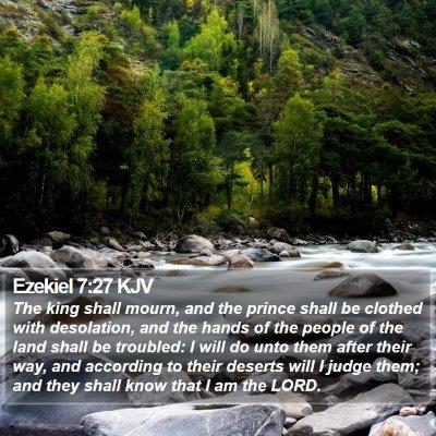 Ezekiel 7:27 KJV Bible Verse Image