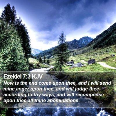 Ezekiel 7:3 KJV Bible Verse Image
