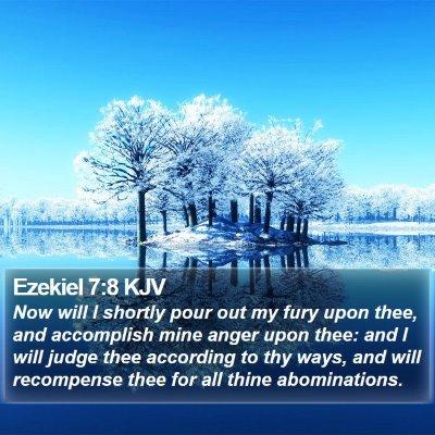 Ezekiel 7:8 KJV Bible Verse Image