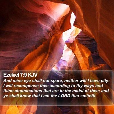 Ezekiel 7:9 KJV Bible Verse Image