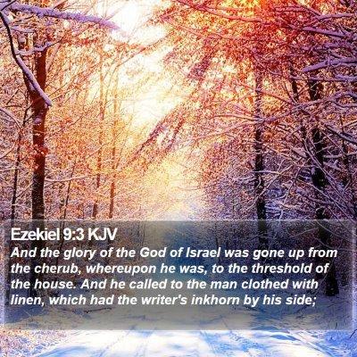 Ezekiel 9:3 KJV Bible Verse Image