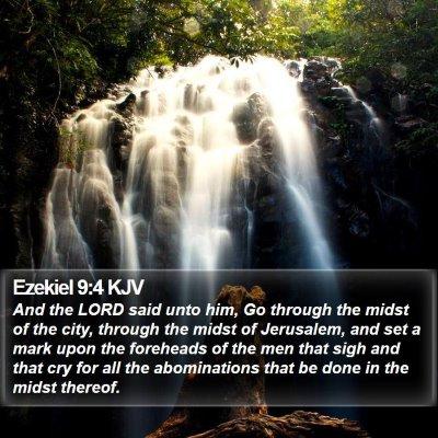Ezekiel 9:4 KJV Bible Verse Image