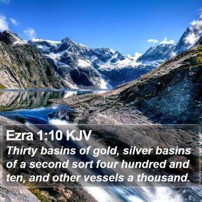 Ezra 1:10 KJV Bible Verse Image
