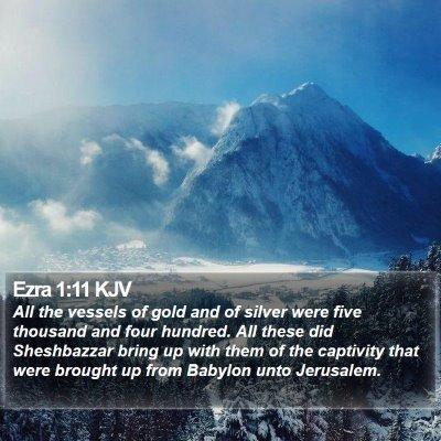 Ezra 1:11 KJV Bible Verse Image