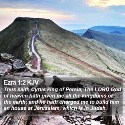 Ezra 1:2 KJV Bible Verse Image