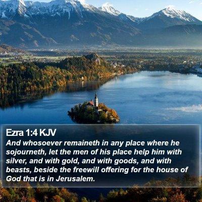 Ezra 1:4 KJV Bible Verse Image