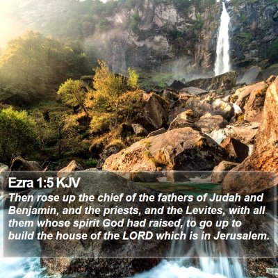 Ezra 1:5 KJV Bible Verse Image