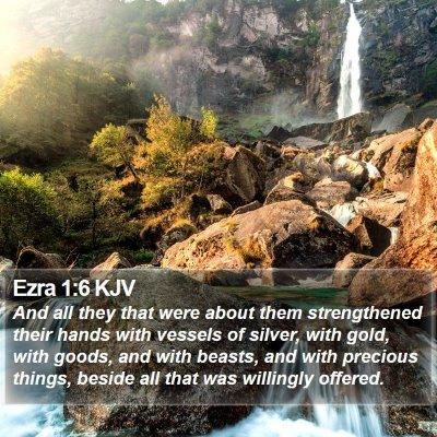 Ezra 1:6 KJV Bible Verse Image