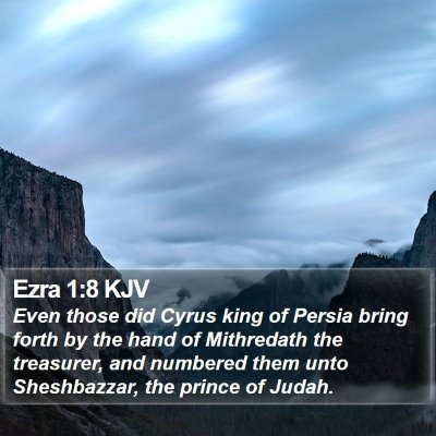 Ezra 1:8 KJV Bible Verse Image
